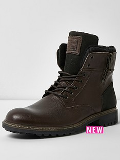 river-island-river-island-mens-leather-military-boot