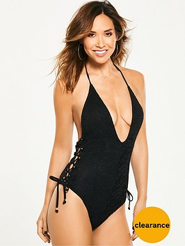 myleene-klass-plunge-lace-up-side-swimsuit