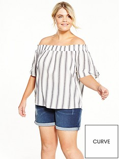 v-by-very-curve-stripe-bardot-top