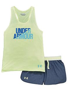 under-armour-under-armour-older-girls-vest-and-shorts-set