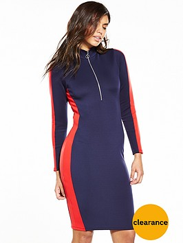 v-by-very-zip-front-bodycon-dress