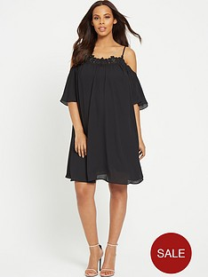 rochelle-humes-swing-maternity-dress-ndash-black