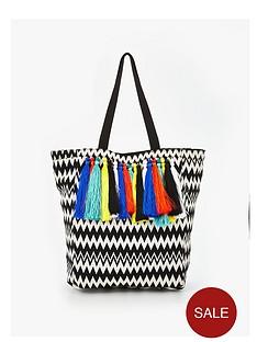 v-by-very-multi-tassle-beach-bag