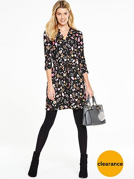 v-by-very-simple-floral-shirt-dress