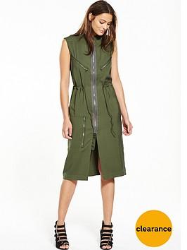 g-star-raw-powel-crusader-zip-shirt-dress-khaki
