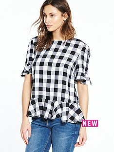 v-by-very-frill-check-blouse