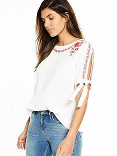 v-by-very-embroidered-split-sleeve-blouse