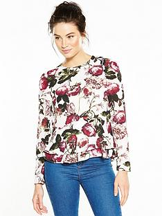 v-by-very-printed-double-layer-peplum-blouse