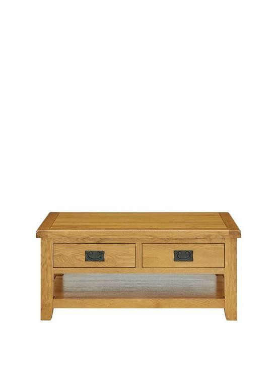 Luxe Collection Oakland 100 Solid Wood 2 Drawer Ready Assembled