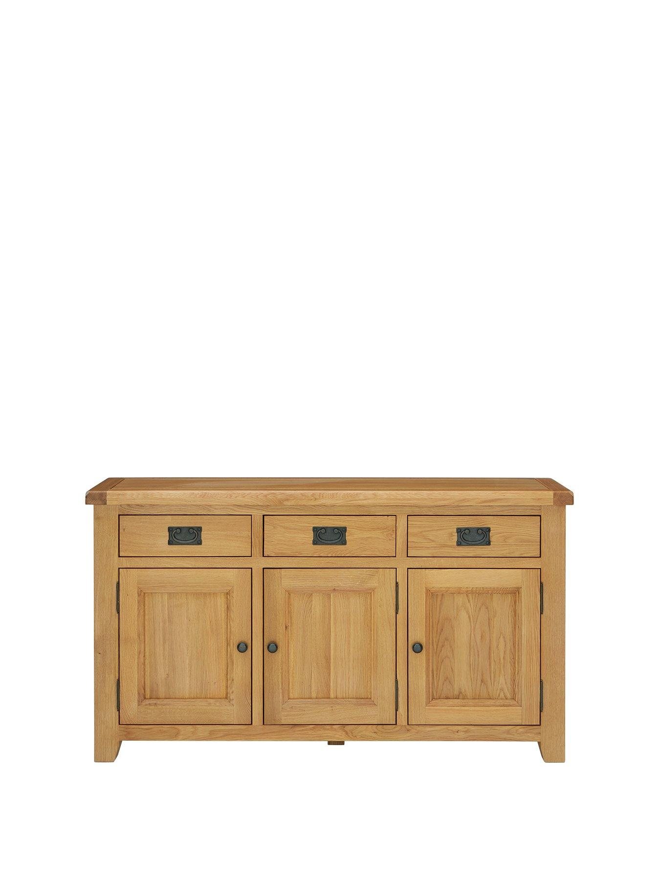 Luxe Collection   Oakland Ready Assembled 100% Solid Wood Large Sideboard