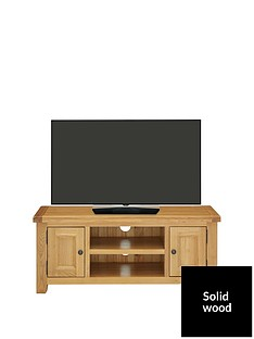Luxe Collection - Oakland Ready Assembled 100% Solid Wood Large TV Unit - fits up to 50 inch TV