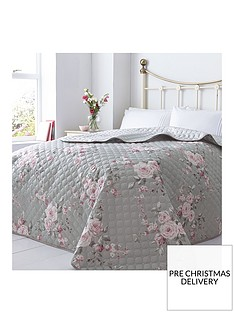 catherine-lansfield-canterbury-bedspread-throw-in-grey