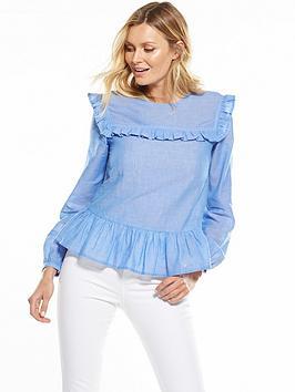 v-by-very-frill-bib-blouse