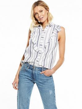 v-by-very-stripe-bib-front-blouse