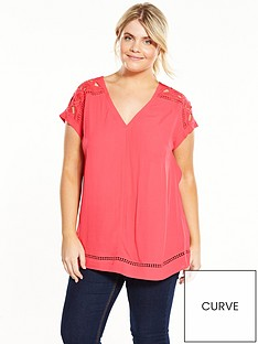 v-by-very-curve-cut-out-detail-short-sleeve-shell-top