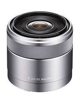 Sony Sony Sel30M35 E Mount Aps-C 30Mm F3.5 Macro Prime Lens - Silver