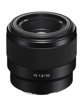 Sony Sel50F18F E Mount- Aps-C 50 Mm F1.8 Full Frame Prime Lens - Black