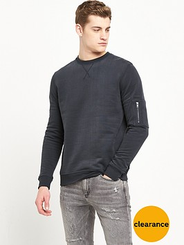 river-island-zip-sleeve-sweatshirt