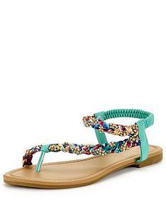 joe-browns-diamante-satin-sandals-green-multi