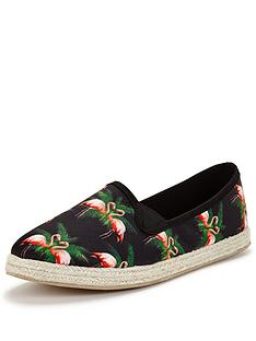 joe-browns-flamingo-espadrilles-black