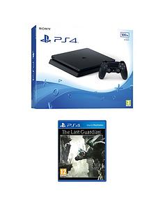 playstation-4-500gb-black-slim-console-with-the-last-guardian