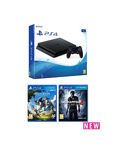 playstation-4-1tb-black-console-with-horizon-zero-dawn-and-uncharted-4-a-thiefs-end-with-optional-12-months-psn-andor-extra-controller
