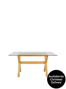 venla-150-cm-solid-wood-and-glass-dining-table