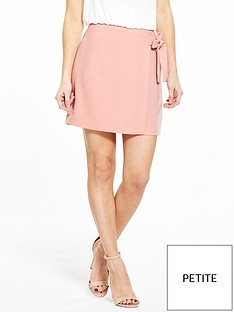 v-by-very-petite-petite-tie-detail-skirt-blushnbsp