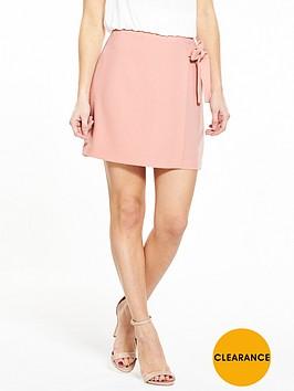 v-by-very-petite-petite-tie-detail-skirt-blushnbsp