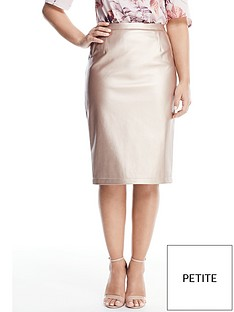 v-by-very-petite-metallic-pu-pencil-skirt