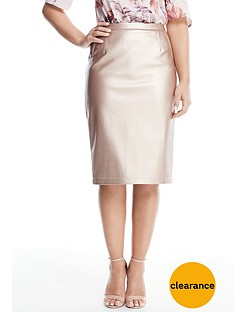 v-by-very-petite-metallic-pu-pencil-skirt