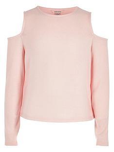 river-island-girls-pink-cold-shoulder-top