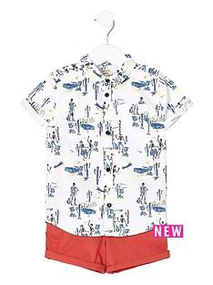 river-island-mini-mini-boys-skeleton-shirt-and-chino-shorts-set
