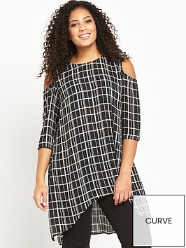 v-by-very-curve-cold-shoulder-longline-printed-tunic-monochrome