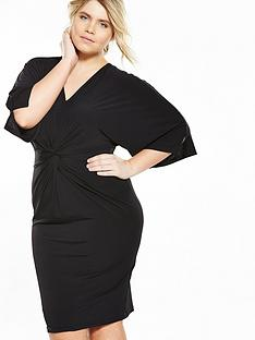 v-by-very-curve-knot-front-batwing-dress