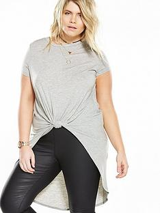 v-by-very-curve-curve-knot-front-longline-three-quarter-sleeve-top