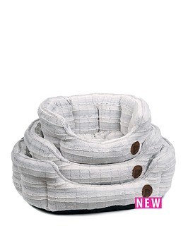 petface-white-plush-oval-bed-23-inch