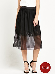 river-island-pleated-tulle-midi-skirt-with-lace-hem-black