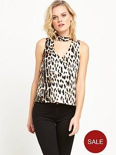 river-island-sleeveless-choker-top-leopard-print