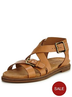 clarks-clarks-corsio-bambi-leather-cross-strap-flat-sandal