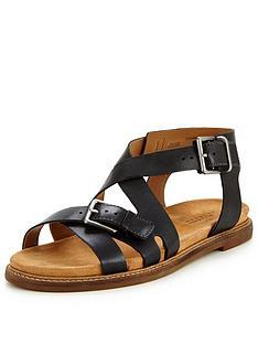 clarks-clarks-corsio-bambi-leather-cross-strap-flat-sandal