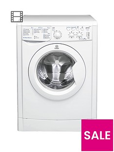 Indesit EcoTime IWSC51051ECO 5kg Load, 1000 Spin Washing Machine - White