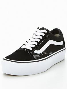 32c1a9bd1d Vans Old Skool Platform - Black White