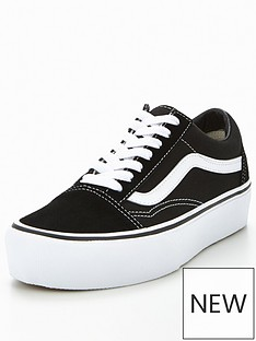 Vans Old Skool Platform - Black White ad9302bac
