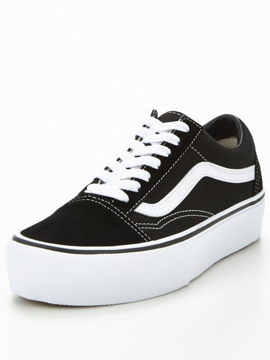 1b758c8d5c0 Vans Old Skool Platform - Black White