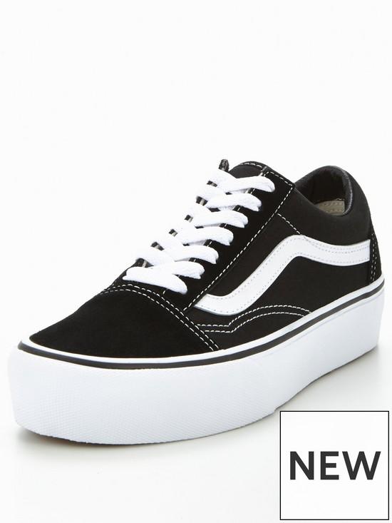 854b0043222763 Vans Old Skool Platform - Black White