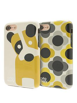 orla-kiely-two-partnbsphardshell-duo-phone-case-pack-for-iphone-7-ditsy-dog-amp-giant-flower-spot-design