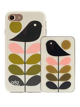 orla-kiely-orla-kiely-iconic-fashion-hardshell-duo-phone-case-pack-amp-portable-battery-charger-power-bank-bundle-for-iphone-7-early-bird-design