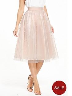 little-mistress-petite-pearl-embellished-mesh-tulle-midi-skirt