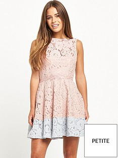 little-mistress-petite-skater-dress-nude